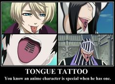 Tongue Tattoo; You Know An Anime Character Is Special When He Has One; Alois Trancy From Black Butler With An Contract On His Tongue He Made With Claude Faustus