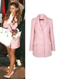 ariana grande pink coat