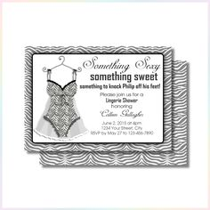 Personalized Printable Invitations   Something Sexy Bachelorette Party   Wedding