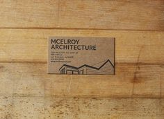 Mcelroy Architecture Business Card // The Aesthetic Union