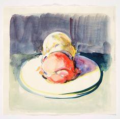 Wayne Thibaud 'Untitled (Two Ice Cream Scoops on Plate)'