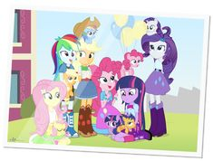 Life at Canterlot High by ~dm29 on deviantART- cute!