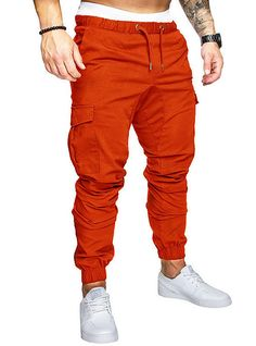 Men's Sporty Streetwear Loose Jogger Tactical Cargo Pants Striped Solid Colored Drawstring White Black Blue US34 / UK34 / EU42 US36 / UK36 / EU44 US38 / UK38 / EU46 2020 - US $18.99 Tactical Cargo Pants, Mens Jogger Pants, Baggy Trousers, Jogger Sweatpants, Men Pants, Harem Pants, Slim Fit Pants, Drawstring Pants, Fashion Pants