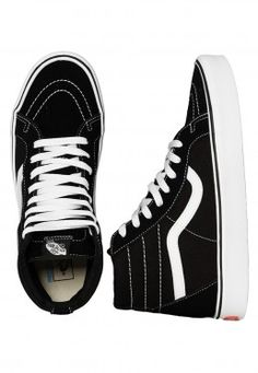 472cf66c028 Vans - Sk8-Hi Lite + Suede Canvas Black White - Shoes