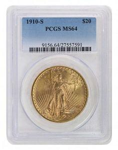 1910-S PCGS MS64 Saint Gaudens $2525.00