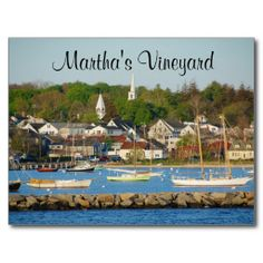 Shop Martha's Vineyard Harbor Cape Cod Mass Post Card created by CapeCodmemories. Personalize it with photos & text or purchase as is! Oh The Places You'll Go, Places To Travel, Places To Visit, Marthas Vinyard, Vineyard Haven, Photo Postcards, Dream Vacations, Vacation Spots, Adventure Is Out There