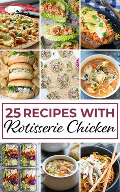25 Easy Recipes with Rotisserie Chicken 25 Easy Recipes with Rotisserie Chicken,Chicken Recipes One of the best ways to make life easier during hectic times is to have a store-bought rotisserie chicken waiting for. Costco Rotisserie Chicken Recipe, Leftover Chicken Recipes, Shredded Chicken Recipes, Roast Chicken Recipes, Leftovers Recipes, Ground Beef Recipes, Healthy Chicken Recipes, Easy Healthy Recipes, Easy Dinner Recipes