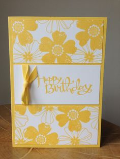 Stamping, papercrafts and scrapbooking using Stampin' Up! You can book a Stampin' Up! UK party, buy Stampin' Up! UK goods, and find out more about joining as a Stampin' Up! Images © Stampin' Up! Birthday Cards For Women, Handmade Birthday Cards, Happy Birthday Cards, Greeting Cards Handmade, Easy Handmade Cards, Female Birthday Cards, Card Birthday, Birthday Greetings, Stampin Up Karten