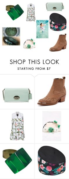 """Green"" by nadaanja ❤ liked on Polyvore featuring Coach, Tony Bianco, Ted Baker and Urban Decay"