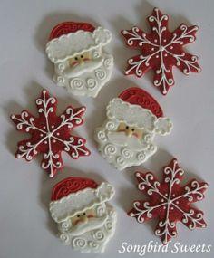 Santa Faces & Snowflakes Cookies