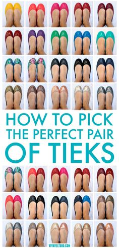 Want a pair of Tieks ballet flats but can't decide which pair to splurge on? Here's tons of photos of Tieks with side by side comparisons.