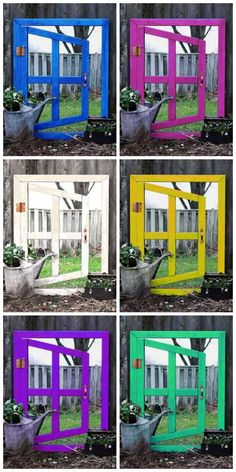 How to make an optical illusion garden mirror for a really cool effect in your yard. This inexpensive project can be made with thrift shop materials. Diy Garden Projects, Garden Crafts, Outdoor Projects, Garden Art, Garden Design, Garden Ideas, Backyard Ideas, Garden Nook, Garden Spaces