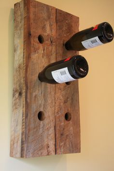"""This is a 6 bottle wine holder made from a barn built in 1897 in Denver, Pa.Measures 18"""" tall by 14"""" wide by 4"""" deep. Finished with a clear Eco- friendly water"""