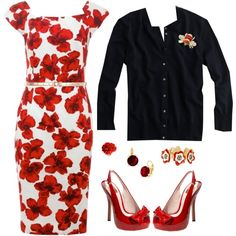 """Emma Pillsbury Red & Black"" by lilbailey on Polyvore"