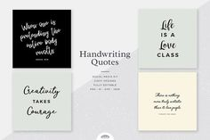 Handwriting Quotes Social Media Kit by Viaduc on @creativemarket