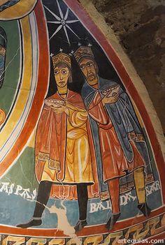 Iglesia de Santa María de Taüll. Maiestas Mariae, Alta Ribagorça Lleida Catalonia Los reyes Gaspar y Baltasar