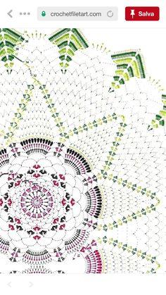 (notitle) - Zdeňka Muchová - #Muchová #notitle #Zdeňka Crochet Doily Diagram, Crochet Doily Patterns, Thread Crochet, Filet Crochet, Crochet Motif, Crochet Doilies, Crochet Lace, Pineapple Crochet, Pineapple Pattern