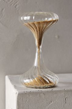 Shimmering Sand Hourglass - got one of these Falling Sand, Sand Hourglass, Sand Timers, Vases Decor, Jewelry Gifts, Home Accessories, Glass Art, Room Decor, Glass