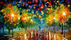 EVENING STROLL - PALETTE KNIFE Oil Painting On Canvas By Leonid Afremov http://afremov.com/EVENING-STROLL-PALETTE-KNIFE-Oil-Painting-On-Canvas-By-Leonid-Afremov-Size-30-x24.html?bid=1&partner=20921&utm_medium=/vpin&utm_campaign=v-ADD-YOUR&utm_source=s-vpin