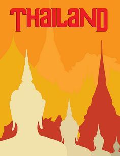 Thailand travel poster.