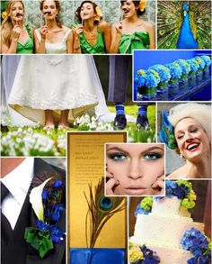 Wedding colour options. Emerald Green + Sapphire Blue and Gold *Our possible wedding colors! But not gold.*