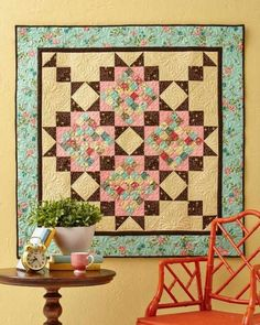 A Scrappy Romance Wall Quilt - Quilting Digest