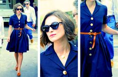 Keira Knightley out in Venice, Can I have a dress like this and I love the color.