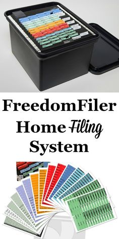 Setting up a filing system can feel daunting. If you don't want to do this yourself, there are some systems already created for you, including the FreedomFiler filing system. Learn more about it here.