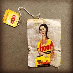 40 Days of Art/38 I found Mr. Goodbar. Who remembers the movie? #creativelent2017 #lookingformrgoodbar