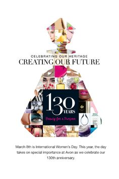 130 years! Join the sisterhood! The company for women (and a few good men!) https://victoria-p.avonrepresentative.com/opportunity/start