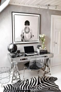 Very chic home office.