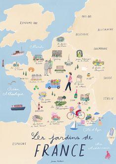 Travel Maps, Travel List, Travel Posters, Places To Travel, Travel Destinations, Ville France, France Map, France Travel, Paris France