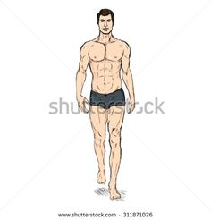 Fashion Drawing Dresses, Fashion Sketches, Silhouette Drawings, Fashion Illustration Template, Fashion Figures, How To Draw Hair, Men Fashion, Underwear, Wonder Woman