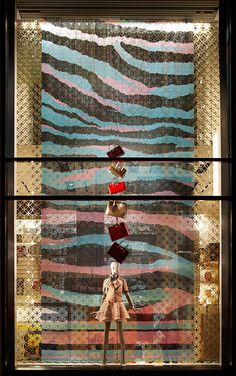 """Get Inspired: Louis Vuitton's Visual Creative Director Spills Her Secrets! #refinery29 http://www.refinery29.com/louis-vuitton-faye-mcleod-fashion-night-out-2011#slide-6 """"Vitrines Zebra,"""" at the Champs-Elysees store, 2011. ..."""