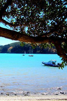 Stunning blue water. Summer sun. Akaroa, New Zealand. www.theglamcurl.com