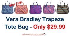 Wow! Want an awesome bag at an awesome price! The Vera Bradley Trapeze Tote Bag is only $29.99 shipped! (reg $98!)  Click the link below to get all of the details ► http://www.thecouponingcouple.com/vera-bradley-trapeze-tote-bag/ #Coupons #Couponing #CouponCommunity  Visit us at http://www.thecouponingcouple.com for more great posts!