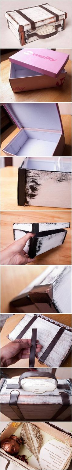 DIY Suitcase Out of Shoe Box DIY Suitcase Out of Shoe Box by diyforever