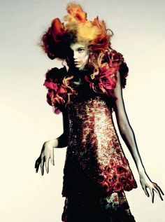 Molly Blair by Paolo Roversi for Vogue Italia Couture March 2015 - Chanel
