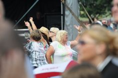 Dancing to some amazing songs in the Bents Park 2014.