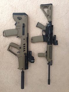 Tavor and AR with same length barrels.