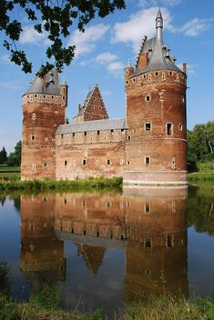 Beersel Castle, Brussels. Belgium.