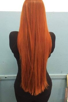Carrot hair got a cut. To midway in her back .she didn't like the new look Long Red Hair, Super Long Hair, Silky Hair, Smooth Hair, Rapunzel Hair, Long Curls, Red Hair Color, Light Hair, Beautiful Long Hair