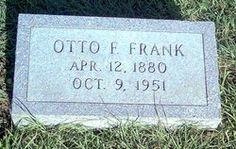 Otto Frank's headstone.