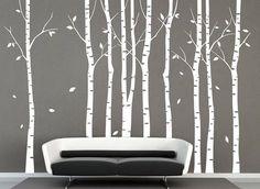 Wandtattoo - Baum der weißen Birke Waldwandtattoos Birke - ein Designerstück von Amazingdecals bei DaWanda