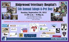 Adopt a pet day at Ridgewood Vet Hospital.