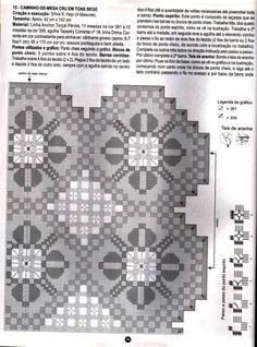 Sandra toalha bege            Revista completa toalha e gráfico Arquivo dos álbuns