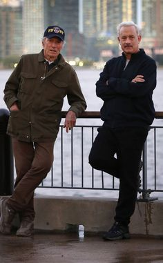 Clint Eastwood & Tom Hanks from The Big Picture: Today's Hot Pics Spotted on set! The director and star of Sully are spotted filming a scene in New York City.