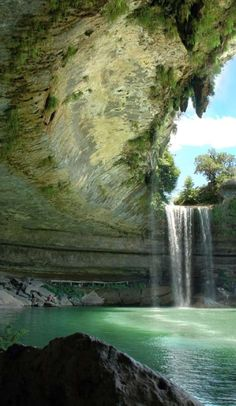 North America's 8 Best (and Secret) Swimming Holes ... Hamilton Pool, Texas Our second Texas swimming hole, comes by way of the Hamilton Pool grotto. This historic pool is located just 45 minutes outside Austin. In the summer it can get very busy so best to get there early. Also, you definitely want to call or check to see if it's open. I visited in September of 2014, drove all the way there and it was closed due to some clean up they were doing.