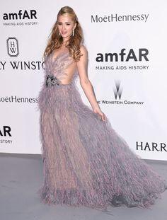 Paris Hilton. See what all the stars wore at the Cannes amfAR gala.