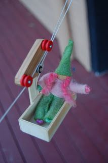 Create a pulley zip line